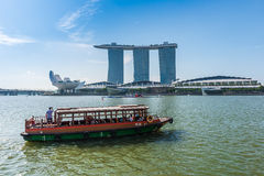SINGAPORE-JUNE 19: The Marina Bay Sands Resort Hotel Royalty Free Stock Image