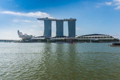 SINGAPORE-JUNE 19: The Marina Bay Sands Resort Hotel Stock Photography