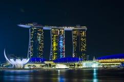 SINGAPORE - JUNE 27: The Marina Bay Sands resort on JUNE 27, 201 Stock Photo