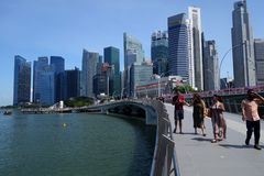 Singapore city skyline in daytime Stock Photos