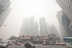 Singapore - June 21, 2013 - Singapore haze hits the highest poll Royalty Free Stock Images