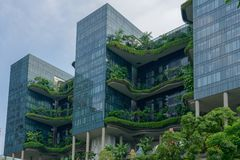 Singapore - Juni 310 2018: Park Koninklijk hotel in Singapore, calle stock afbeeldingen