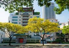 Singapore kinesisk handelskammare- och branschbyggnad Arkivfoton