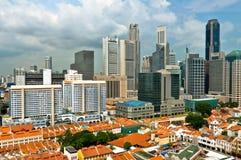 Singapore kineskvarter och affärsområde Royaltyfri Foto