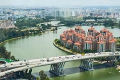 Singapore, la vista superiore Fotografia Stock Libera da Diritti