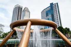 Singapore Landmark: Fountain of Wealth Stock Photography