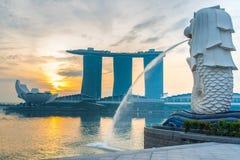 Singapore landmark, Merlion stock photos