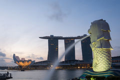 Singapore landmark Merlion Stock Photo