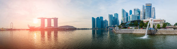 Singapore landmark panorama Stock Photography