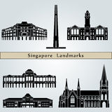 Singapore landmarks and monuments Royalty Free Stock Images
