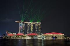 Singapore laser-show arkivbild