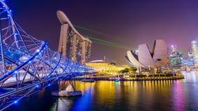 Singapore Light Show stock footage