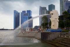 Singapore - The Lion City. Singapore is the city of the lion or lion city. According to one local legend, a long time ago these places were inhabited by a Stock Images