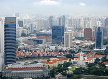 Singapore living districts view Stock Image