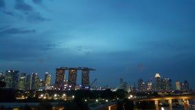 Singapore ljus Fotografering för Bildbyråer