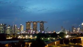 Singapore ljus royaltyfri foto