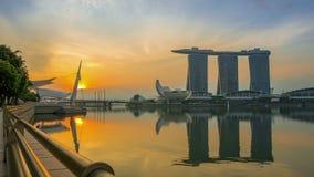 Singapore ljusshow i trädgårdar vid fjärden Seampess ögla arkivfilmer