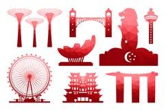 Singapore loppsymbol royaltyfri illustrationer