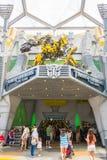 SINGAPORE - LUGLIO 20,2015: TRASFORMATORI il giro: Gli ultimi 3 Immagine Stock Libera da Diritti