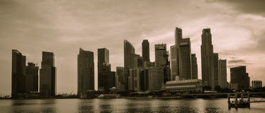 31 Singapore-MAART: Marina Bay Sands Resort Hotel op Mar 31, Stock Foto's