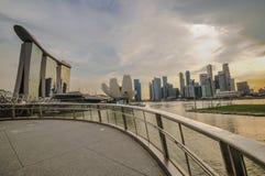 31 Singapore-MAART: Marina Bay Sands Resort Hotel op Mar 31, Royalty-vrije Stock Afbeelding