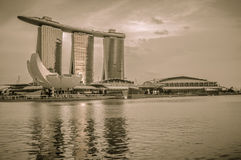 31 Singapore-MAART: Marina Bay Sands Resort Hotel op Mar 31, Royalty-vrije Stock Foto