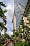 31 Singapore-MAART: Marina Bay Sands Resort Hotel op Mar 31, Royalty-vrije Stock Foto