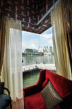31 Singapore-MAART: Marina Bay Sands Resort Hotel op Mar 31, Stock Afbeelding
