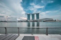 31 Singapore-MAART: Marina Bay Sands Resort Hotel op Mar 31, Royalty-vrije Stock Afbeeldingen