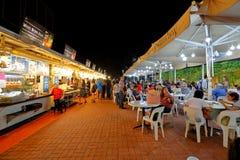 Singapore: Makansutra frossarefjärd royaltyfri fotografi