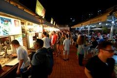 Singapore: Makansutra frossarefjärd Royaltyfri Foto