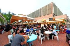 Singapore: Makansutra frossarefjärd royaltyfria foton