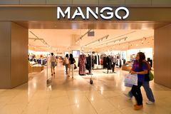 Singapore: Mangodetailhandel Royalty-vrije Stock Foto's