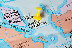 Singapore map Royalty Free Stock Images