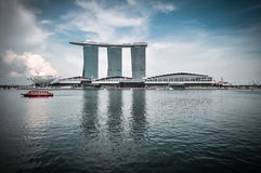 SINGAPORE-MARCH 31: The Marina Bay Sands Resort Hotel on Mar 31, Royalty Free Stock Photo