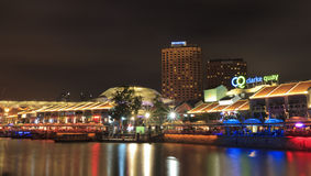 Clarke Quay night life Stock Photos