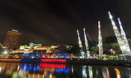 Clarke Quay night life Stock Photography