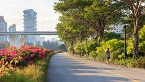 Singapore Marina Bay öst parkerar Royaltyfria Foton