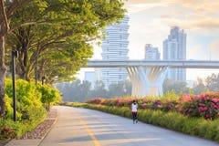 Singapore Marina Bay öst parkerar Royaltyfri Fotografi