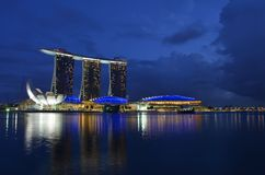 Singapore Marina Bay Stock Images