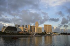 Singapore Marina Bay. And skyline during daytime Royalty Free Stock Images