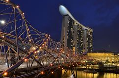 Singapore Marina Bay. Is beautiful at blue hour Stock Photography