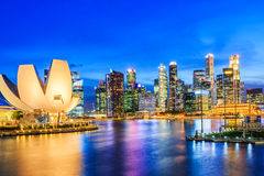 Singapore Marina Bay Royaltyfri Foto