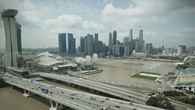 Singapore Marina Bay Aerial view stock video footage