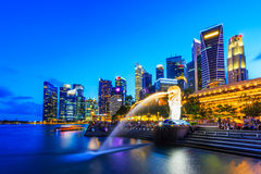 Singapore, Marina Bay Stock Photos