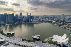 Singapore Marina Bay Cityscape Aerial View. Singapore Marina bay and Central Business District aerial view Stock Photography