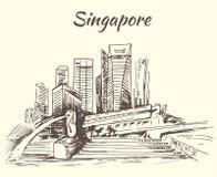Singapore Marina Bay and Merlion Royalty Free Stock Photography