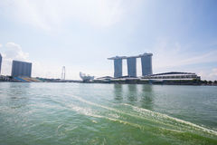Singapore Marina Bay. The morning at Singapore Marina Bay Royalty Free Stock Photography
