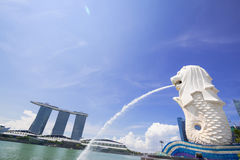 Singapore Marina Bay. The morning at Singapore Marina Bay Stock Image