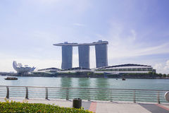 Singapore Marina Bay. The morning at Singapore Marina Bay Royalty Free Stock Image